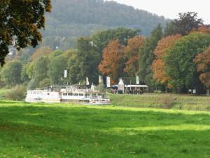 Herbst am Dampferanleger